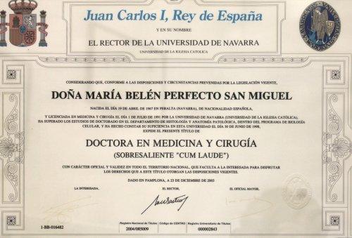 Laboratorio Analisis Navarra Belen Doctora Medicina